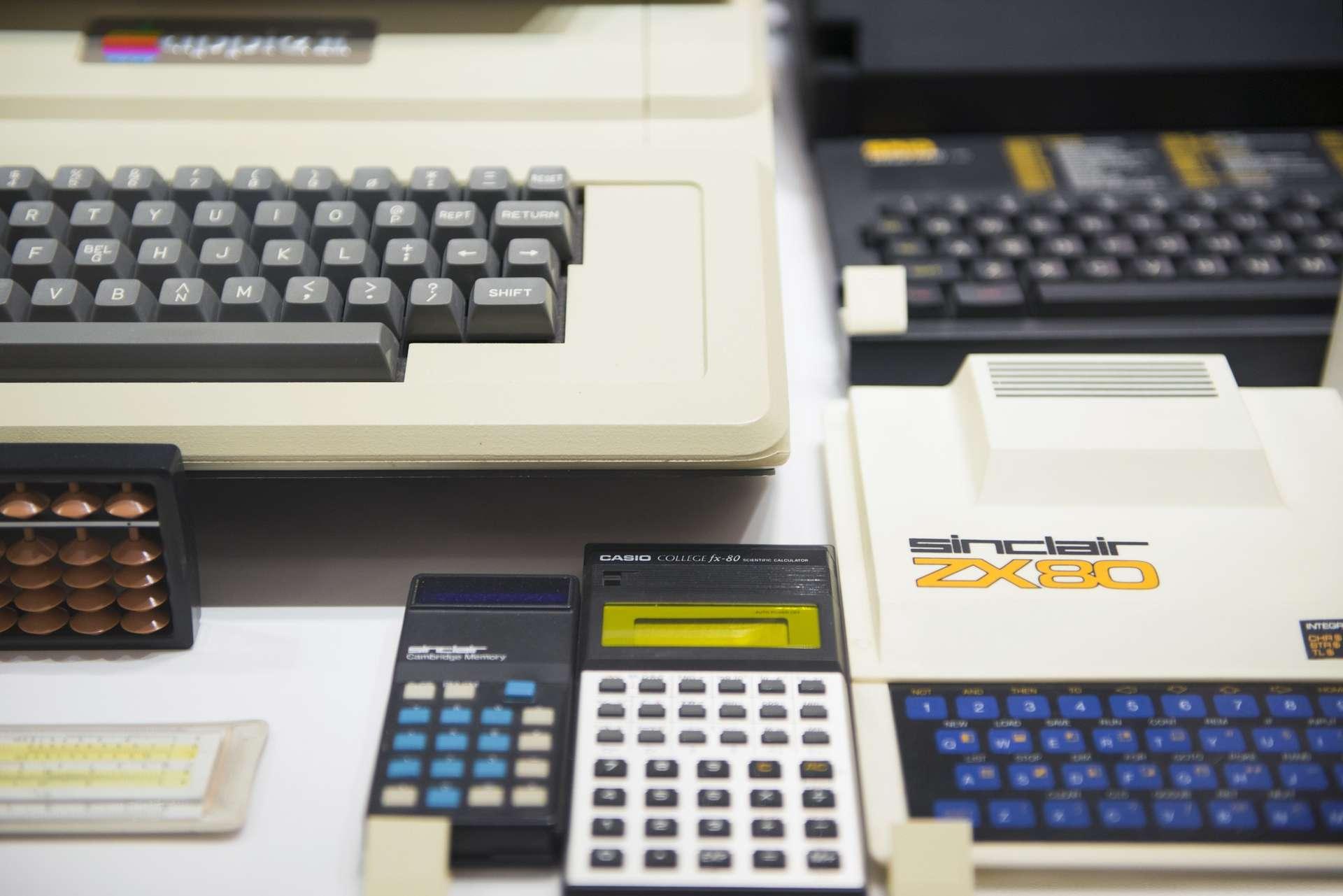 Various calculators and keyboards