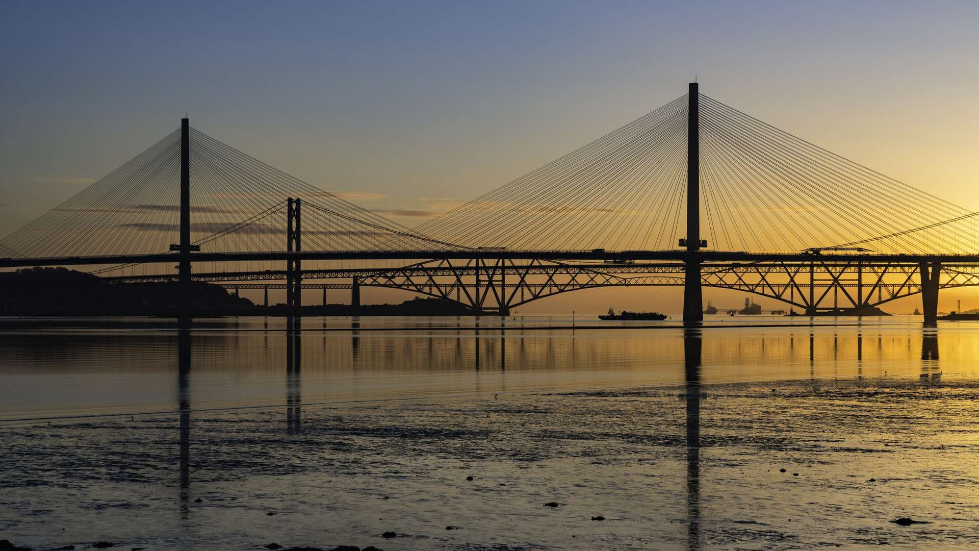 Bridge over a body of water