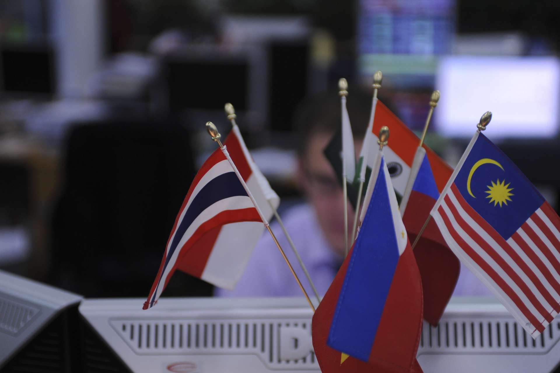 Flags on computer