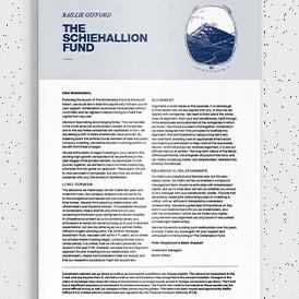 The Schiehallion Fund - Shareholder Welcome Letter