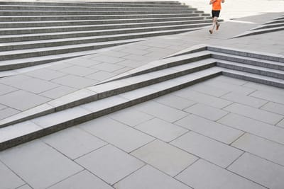 Jogger and steps